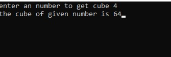Program To Input A Number And Display Its Cube In C